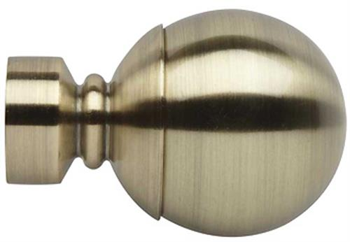 Rolls Neo 28mm by Hallis Hudson Ball Finial Only in Spun Brass, for use with the 28mm Neo curtain poles