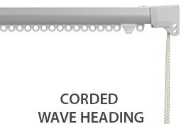 Silent Gliss 3840 Corded Curtain Track, 80mm Wave, Satin Silver