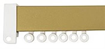 Hallis Superglide Flat Uncorded Metal Curtain Track, Gold