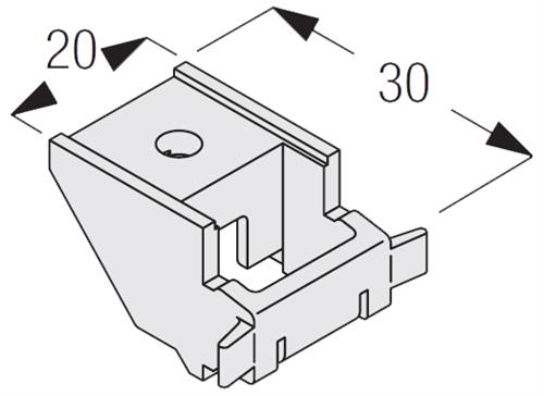 Silent Gliss 3603 Top Fix Bracket, White for use with many of the Silent Gliss Track systems and also used with the Silent Gliss Fixed Extension Brackets when a longer projection from the wall is required
