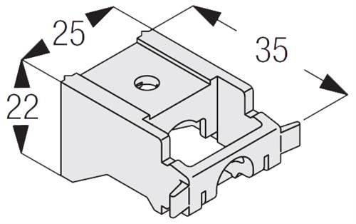 Silent Gliss 3630 Universal Nylon Bracket, used with many of the Silent Gliss Curtain Track systems for wall fixing