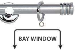 Neo 19mm Bay Window Curtain Pole Chrome Stud