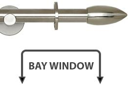 Neo 19mm Bay Window Curtain Pole Stainless Steel Bullet