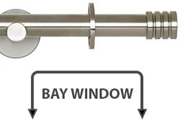 Neo 19mm Bay Window Curtain Pole Stainless Steel Stud