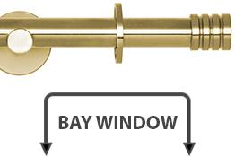 Neo 19mm Bay Window Curtain Pole Spun Brass Stud