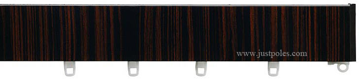 Byron & Byron 35mm and 50mm Havana Polmet Deluxe Curtain Track in an  Ebony Gloss finish