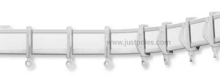Swish Aluglyde Aluminium Uncorded Curtain Track, bendable by hand making it ideal for bay windows and L-shaped windows